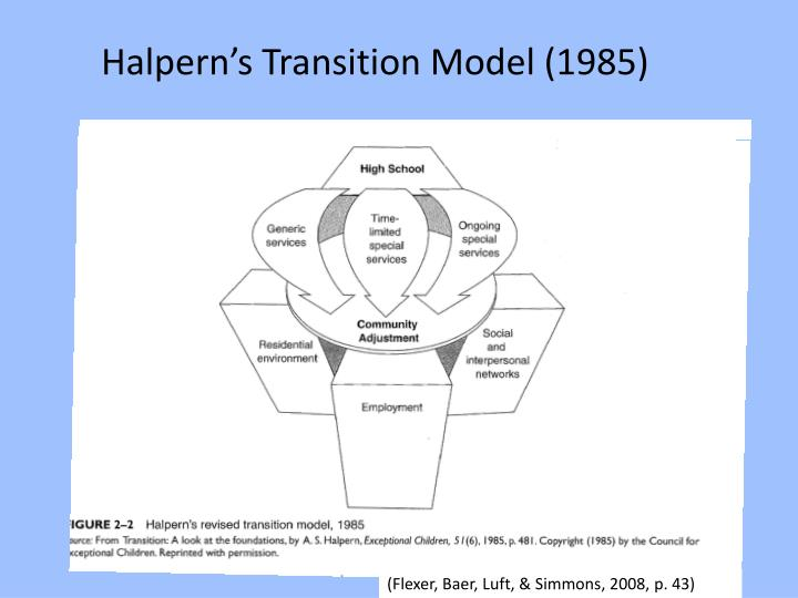 Halpern's Transition Model (1985)