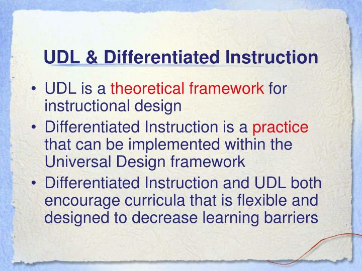 UDL & Differentiated Instruction