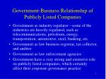 government business relationship of publicly listed companies1
