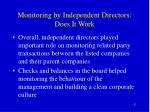monitoring by independent directors does it work