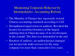 monitoring corporate behavior by intermediaries accounting reform