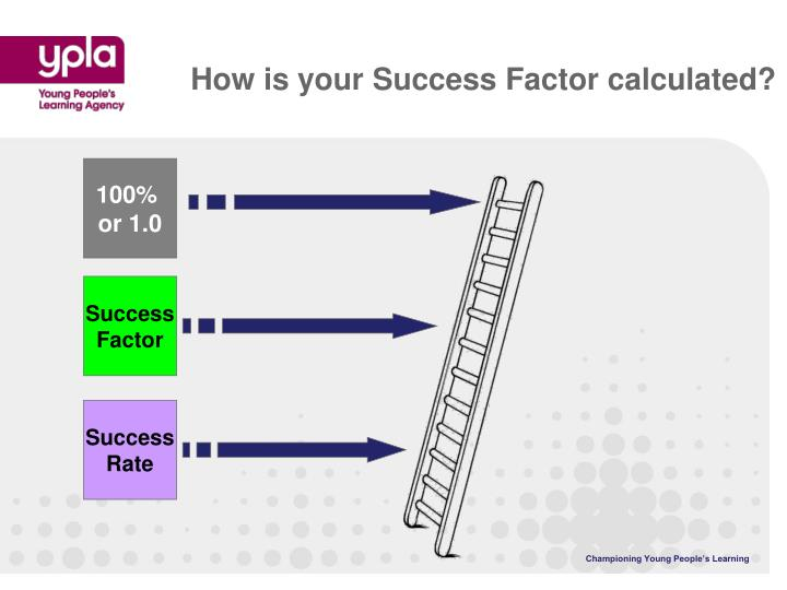 How is your Success Factor calculated?
