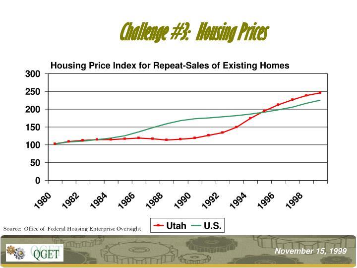 Challenge #3:  Housing Prices