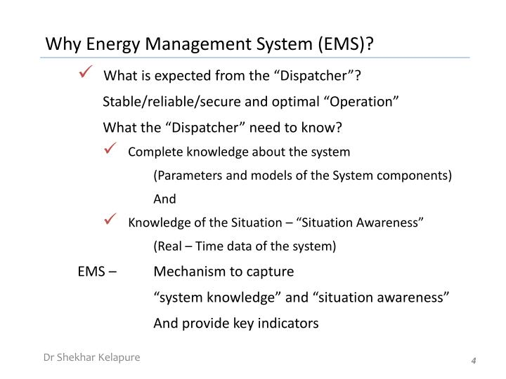 Why Energy Management System (EMS)?