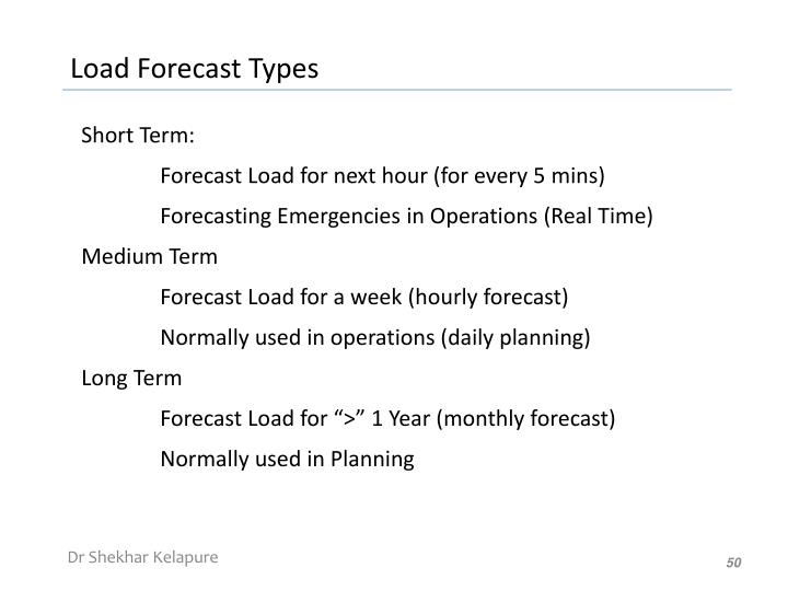 Load Forecast