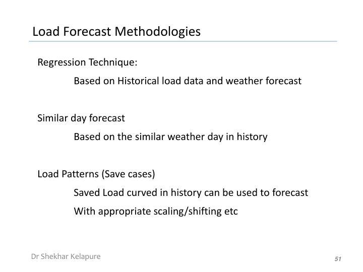 Load Forecast Methodologies