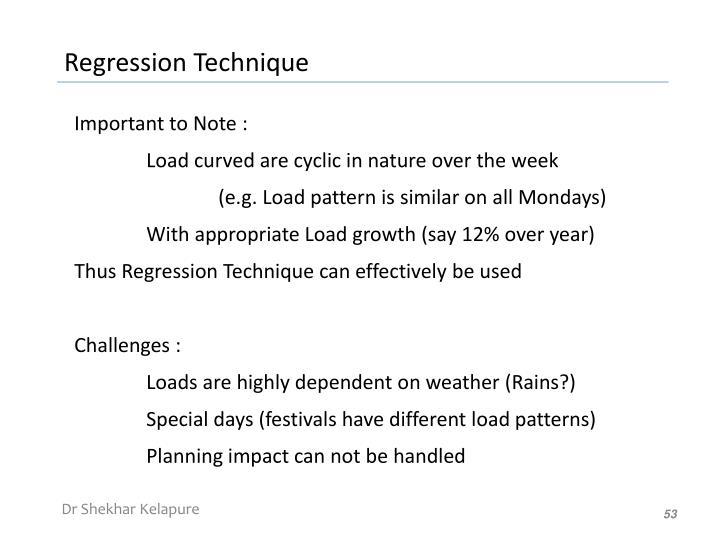 Regression Technique