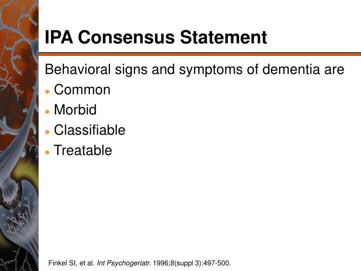 IPA Consensus Statement