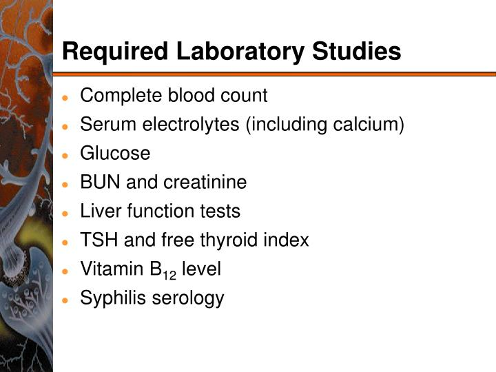 Required Laboratory Studies
