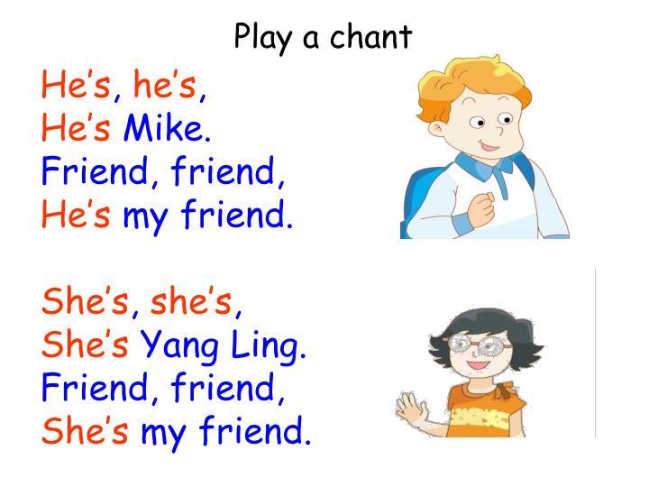 Play a chant