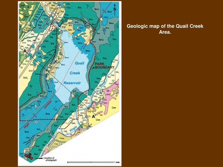 Geologic map of the Quail Creek