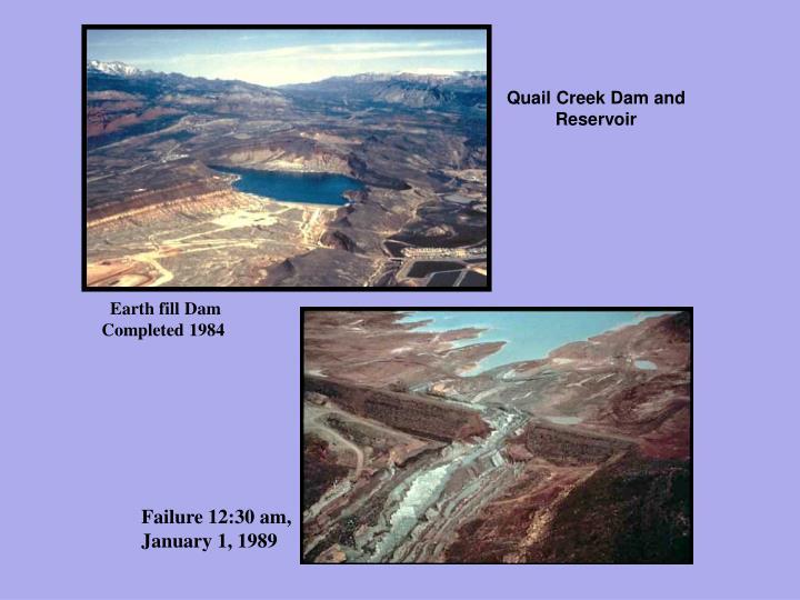 Quail Creek Dam and