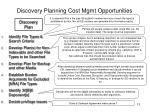 discovery planning cost mgmt opportunities