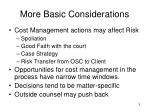 more basic considerations