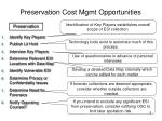 preservation cost mgmt opportunities