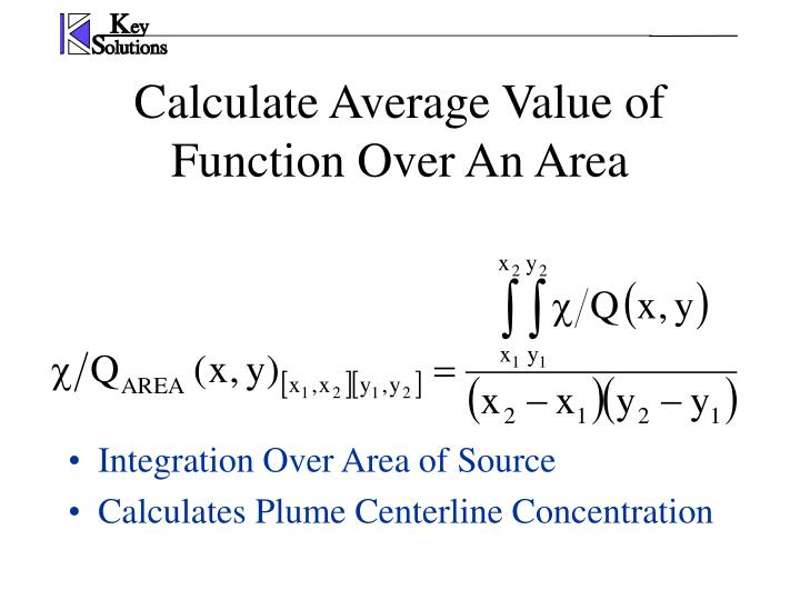 Calculate Average Value of Function Over An Area