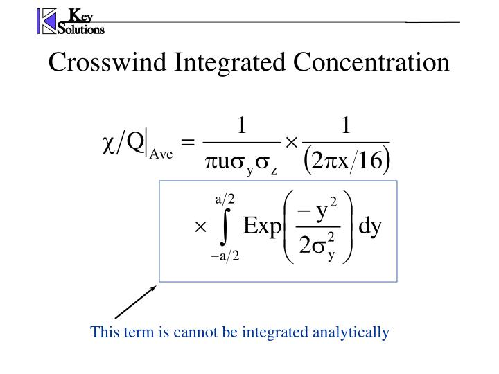 Crosswind Integrated Concentration