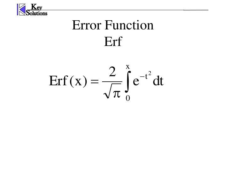 Error Function