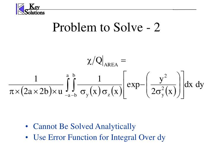 Problem to Solve - 2