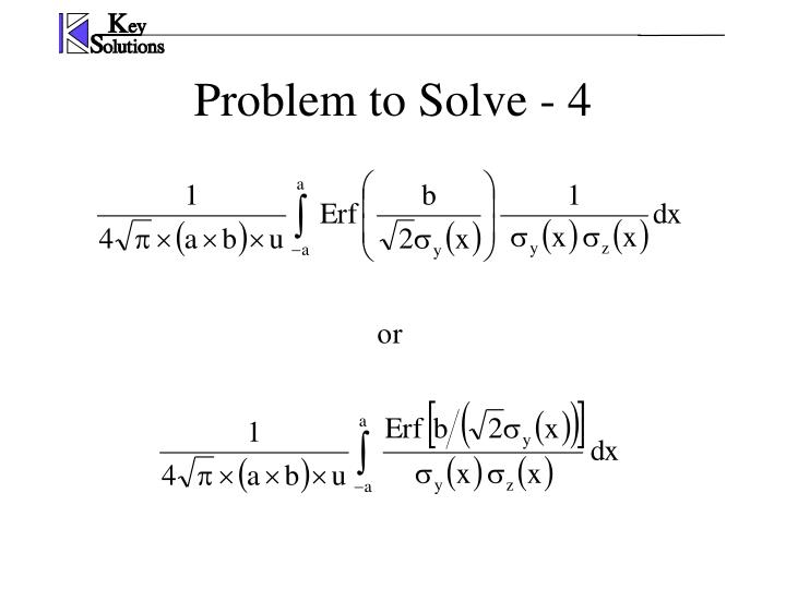 Problem to Solve - 4