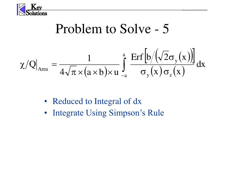 Problem to Solve - 5