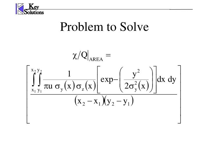 Problem to Solve