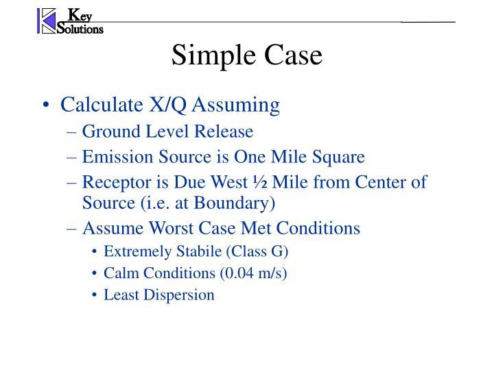 Calculate X/Q Assuming
