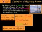 definition of reactive power