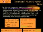 meaning of reactive power note