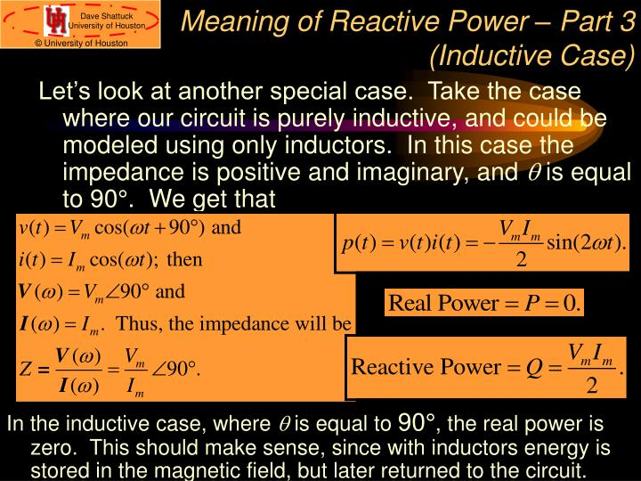Meaning of Reactive Power – Part 3 (Inductive Case)