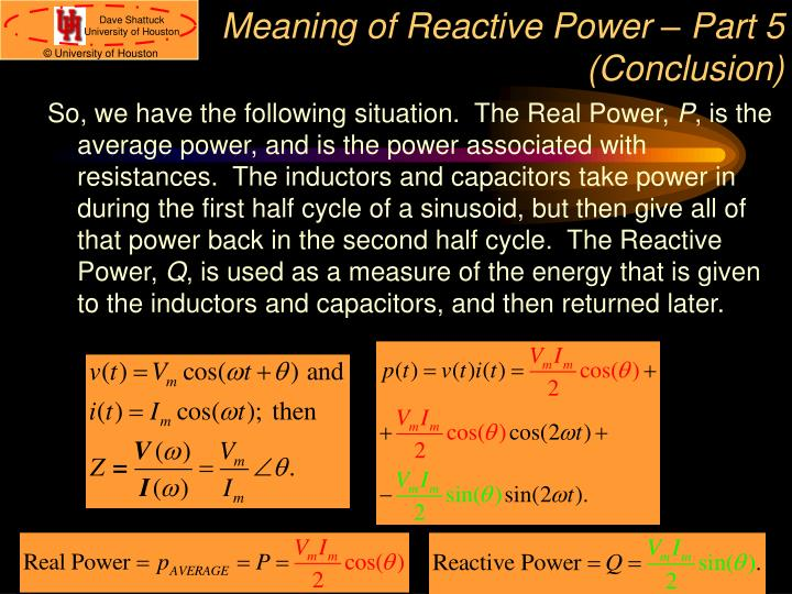 Meaning of Reactive Power – Part 5 (Conclusion)