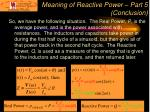 meaning of reactive power part 5 conclusion