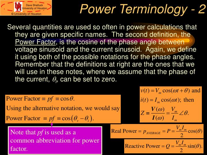 Power Terminology - 2