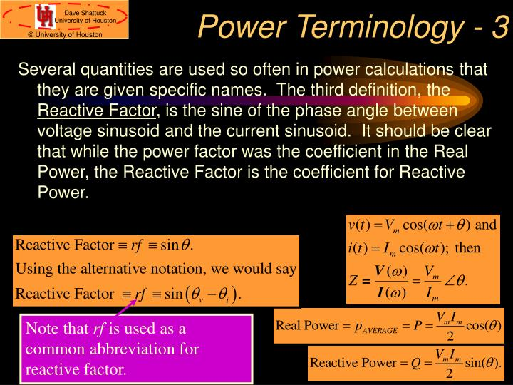 Power Terminology - 3