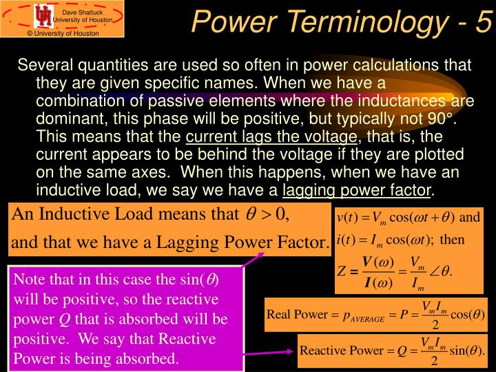 Power Terminology - 5