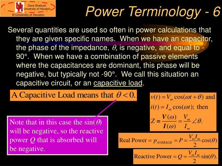 Power Terminology - 6