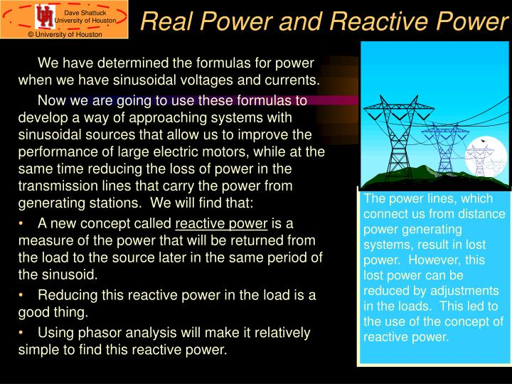 Real Power and Reactive Power