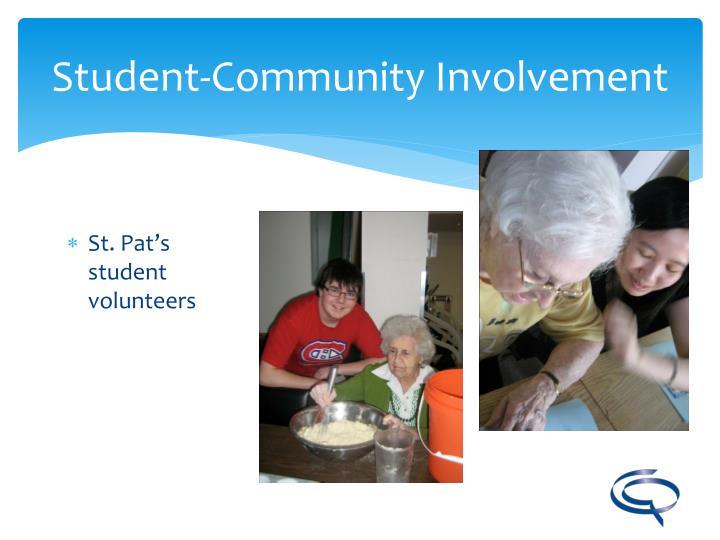 St. Pat's student volunteers