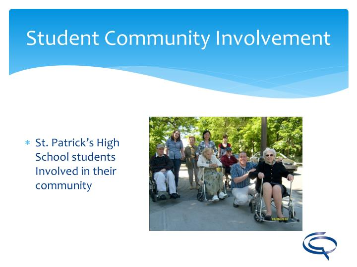 St. Patrick's High School students Involved in their community