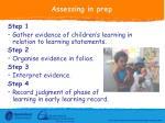 assessing in prep