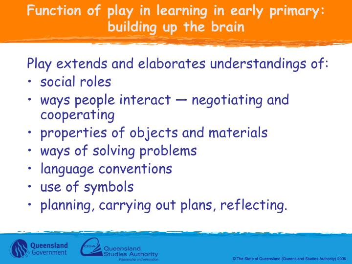 Function of play in learning in early primary: