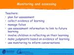 monitoring and assessing