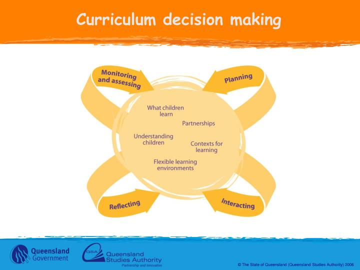 Curriculum decision making
