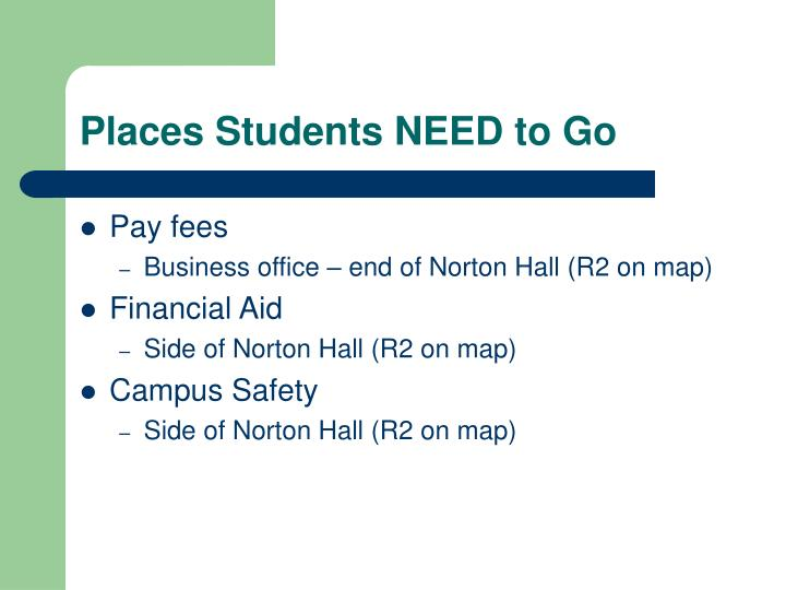 Places Students NEED to Go