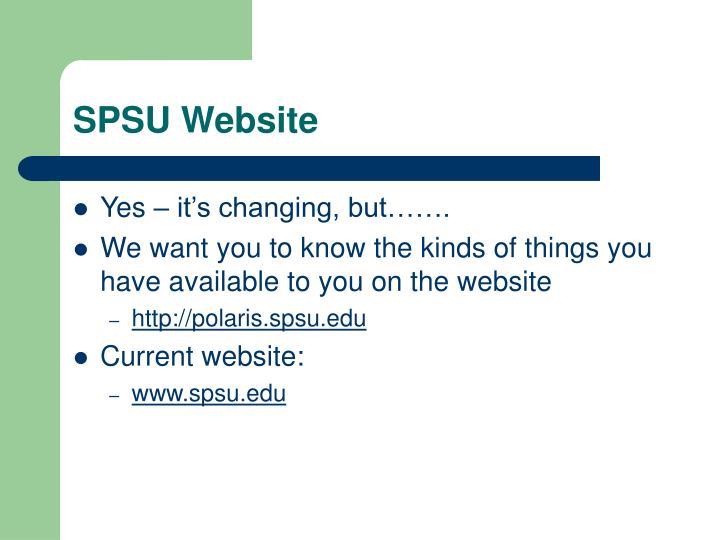 SPSU Website