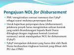 pengajuan nol for disbursement