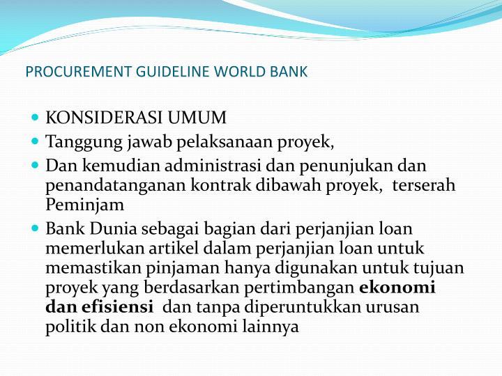 PROCUREMENT GUIDELINE WORLD BANK