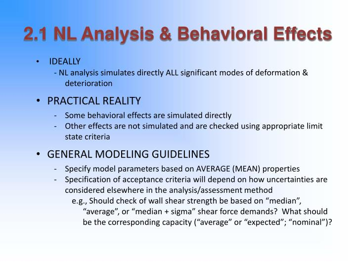 2 1 nl analysis behavioral effects