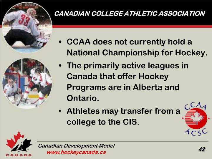 CANADIAN COLLEGE ATHLETIC ASSOCIATION