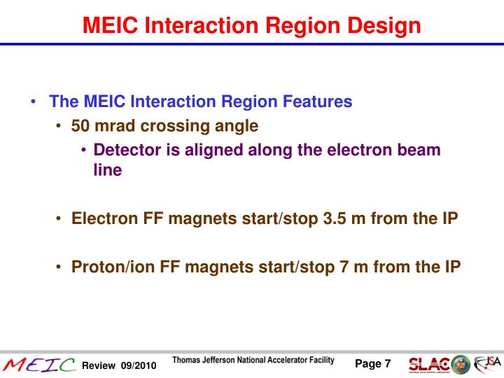 The MEIC Interaction Region Features